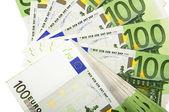 Background of euro bills — Stock Photo