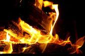 Blaze feu flamme fond de texture — Photo