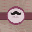 Moustache background invitation — Stock Vector