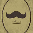 Stock Vector: Moustache background