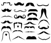 Set of moustaches — Stock Vector