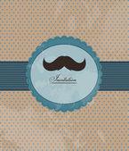 Invitación de fondo bigote — Vector de stock