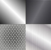 Set of metallic backgrounds — Stock Vector
