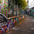 UNESCO world heritage- graffiti street in Ghent, Belgium — Stock Photo