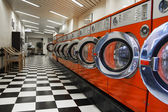Interior of laundromat — Stock Photo