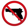 No guns allowed sign — Stock Vector #18973449