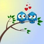 Two birds in love — Stock Vector