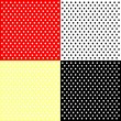 Four polka dots backgrounds - Stock Vector