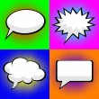 Stock Vector: Pop art comic speech bubbles