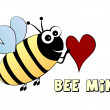 Royalty-Free Stock Vector Image: Bee mine- love concept