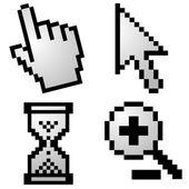 Pixelated computer cursors — ストックベクタ