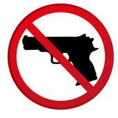 No guns allowed sign — Stock Vector
