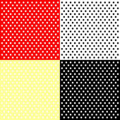 Four polka dots backgrounds — Stock Vector