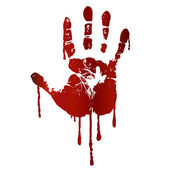 Bloody hand print — Stock Vector