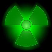 Glowing radioactive symbol — Stock Vector