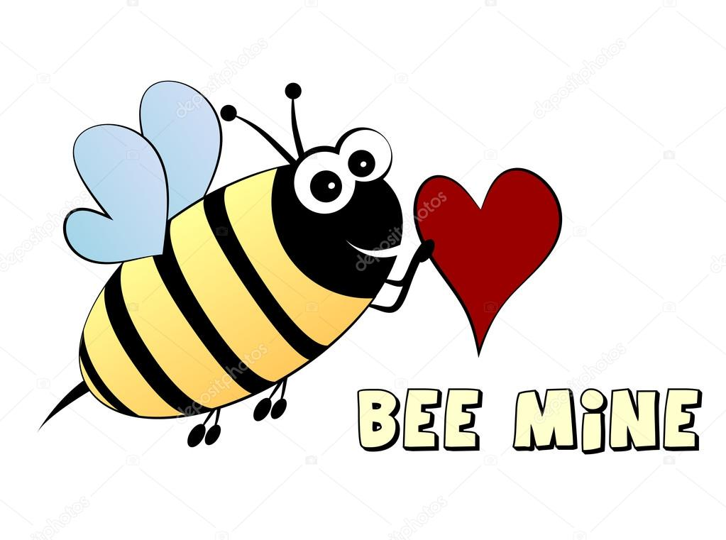 Bee mine- love concept — Stock Vector #18973833