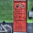 Stock Photo: Bright red door
