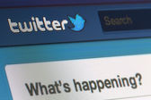 Twitter screenshot — Foto Stock