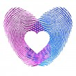Royalty-Free Stock Vector Image: Finger print of man and woman in love