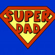 Funny super dad shield — Stock Vector