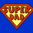 Stock Vector: Funny super dad shield