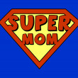 Stock Vector: Funny super mom shield