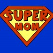 Funny super mom shield — Stock Vector #22337719