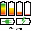 Stok Vektör: Battery charge icons