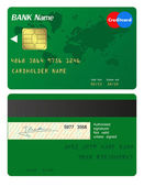 Front and back of credit card — Stock Vector