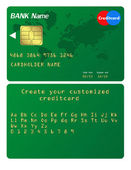 Credit card Illustration. Alphabet included to customize your ca — Stock Vector