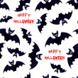 Halloween bat - seamless background — Stock Vector