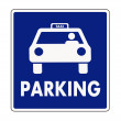 Taxi parking sign — Stock Vector
