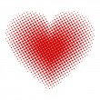 Heart halftone — Stock Vector