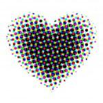 Heart halftone — Stock Vector