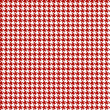 Red-white houndstooth background -seamless — Stock Vector