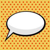 Pop art comic speech bubble — Stock Vector