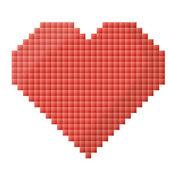 Pixel srdce — Stock vektor