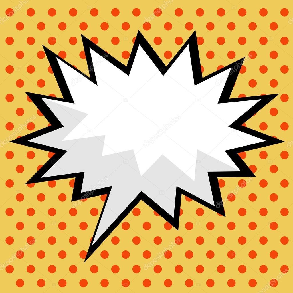 Bocadillo de di logo c mico de arte pop vector de stock - Cuadros pop art comic ...