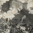 Storming of the Bastille Paris 1789 — Stock Photo