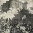 Storming of the Bastille Paris 1789 - Stock Photo
