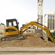 Stock Photo: Excavator on construction site