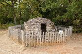 Cadole, stony shelter for shepherd and wine growers (Burgundy France) — Stock Photo