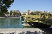 Mirabeau bridge, work of engineering 19 th century (Paris France) — Stock Photo