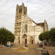Stock Photo: Cathedral Saint Etienne, town of Auxerre , works of renovation dated october 2012 (Yonne Bourgogne France)