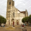 Cathedral Saint Etienne, town of Auxerre , works of renovation dated october 2012 (Yonne Bourgogne France) — Stock Photo