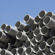 Plastic pipes, zone of storage — Stock Photo