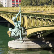 Mirabeau bridge, woman allegory 19 th century (Paris France) — Stock Photo