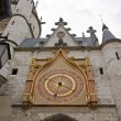 Clock of the clock tower  (Auxerre Bourgogne France) - Стоковая фотография