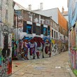 Street art in Ghent (Gand), tag, graffiti street (Belgium Flanders) — Stock Photo