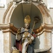 St Nicholas, wooden statue 18 ème century ( Auxerre France) — Stock Photo